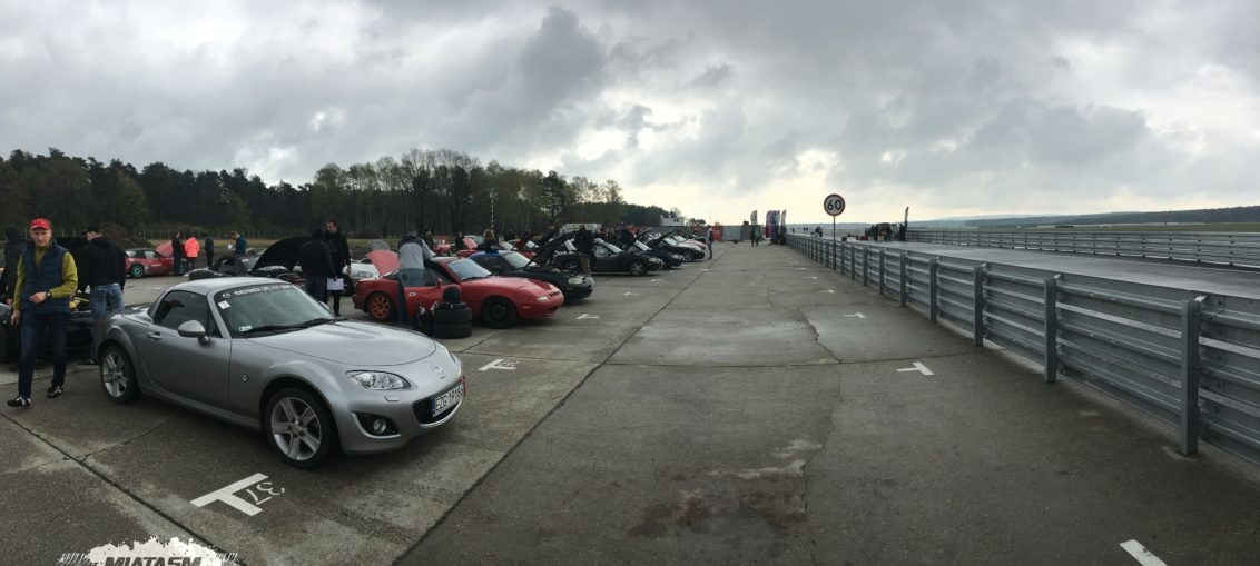 Silesia Ring paddock filled with MX-5